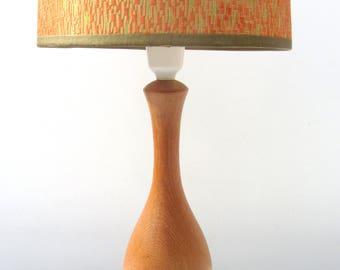 Svelte Funky Chic Danish Style 1950s Modernist Vintage Retro Teak Wooden Table Lamp - Optional old shade