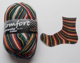 sock yarn 100g (6,-Euro/100g), colorful, 4ply (1216.01)