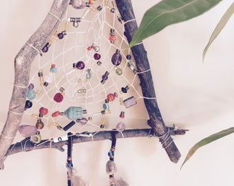 Twisted and Tenacious Stick Triangle Dream Catcher