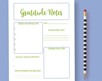 Gratitude Planner, Gratitude Journal, Gratitude Printable, Thanks Planner, Gratitude Log, Journal Insert, Daily Gratitude, Daily Organizer