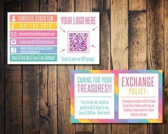 LulaRoe business card, LulaRoe care card, LulaRoe QR business card, Lula Roe business card