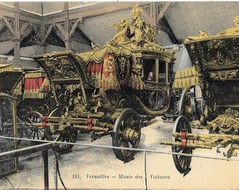 Musee des Voitures, Château de Versailles, Palace of Versailles, France, Antique 1910 Unused Color Postcard