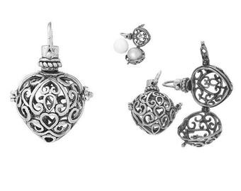 Silver cage mast hearts creations bola pregnancy 18mm