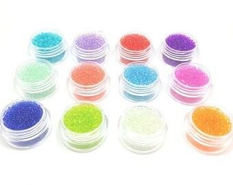 12 boxes of Microbeads transparent fake sugar