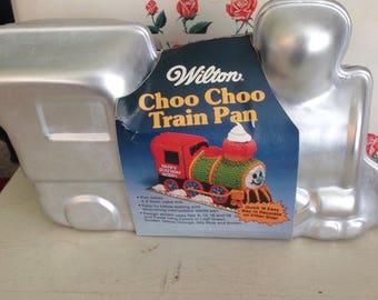 Train 3D Cake Pan- Wilton Choo Choo Train-NOS