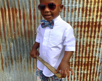 "Casual Swag'n"" Shorts and Bowtie for Babies, Toddlers, & Boys"