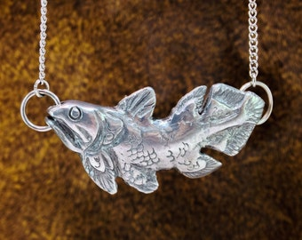 Coelacanth Necklace - coelacanth pendant, coelacanth necklace, fish necklace, fish pendant, fish jewelry, fossil jewelry, fish totem, totem