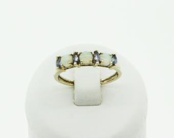 A Pretty Opal And Tanzanite Ring   SKU1088