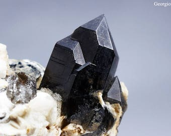 Morion Smoky Quartz Crystal from Northern Ireland