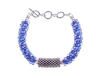 Crystal Blue Bubble Belle Bracelets