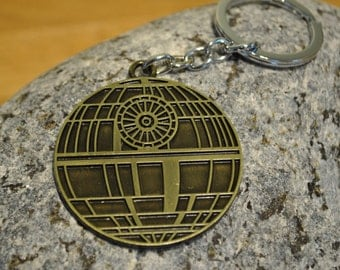 Death Star Star Wars Keyring Keychain Steampunk look!