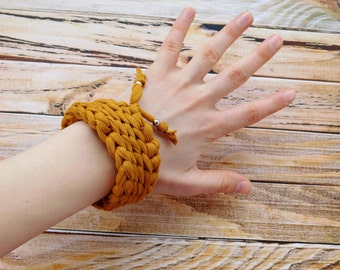 Textile bracelet, Cotton bracelet, Girls cotton bracelet, Crochet bracelet