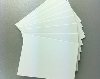 Blank White Cards 105 x 75 mm - Set of 10