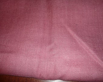 2 Yards 24 Inch x 40 Inch Wide Rose Color Burlap Fabric