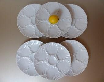 Bareuther Waldsassen oyster plates. Bareuther Bavaria Waldsassen Germany plates, shell-shaped.