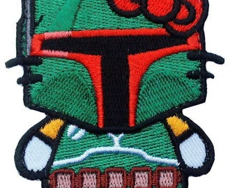 Hello Boba Fett /Hello Stormtrooper Kitty Star Wars Empire Morale Embroidered Patch