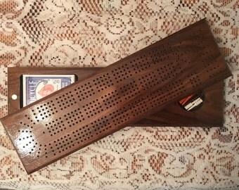 Cribbage Board (Swivel) - Walnut