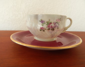 Fine Bone China Demitasse Cup & Saucer Mismatched Set