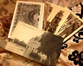 Vintage French Postcards — Set of 15