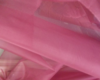 Magenta Dusty Pink Silk Organza Fabric