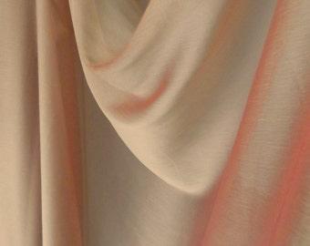 Tangerine Gold Crinkle Chiffon Fabric