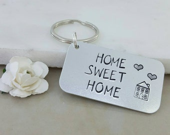 New home keyrings, house keychain, our 1st home gift, house warming present, Key to the door, Family house keys, gift for couple him and her