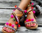 """Sandals """"Gipsy Spell"""" (handmade to order)"""