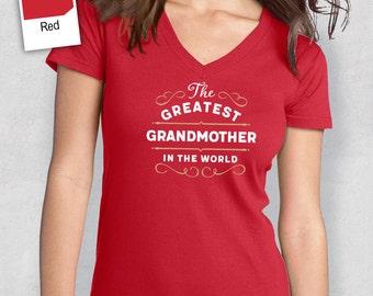 Greatest Grandmother, Grandmother Gift, Grandmother T-shirt, World's Greatest Grandmother Shirt, Gift For Grandmother, Grandmother T Shirt