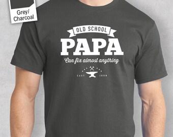 Old School PaPa T-shirt, Personalized PaPa Gift, PaPa Birthday Gift, PaPa Gift, PaPa Shirt, New PaPa Gift, PaPa Tshirt