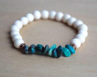 Chrysocolla Bracelet / Yoga Bracelet / Meditation Bracelet / Healing Crystals / Gemstone Bracelet / Boho Bracelet / Christmas Gift Idea