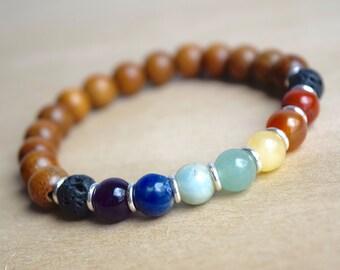 Chakra Bracelet / Chakra Balancing / Chakra Healing / Genuine Gemstone Bracelet / Meditation Bracelet / Yoga Bracelet / Birthday Gift Idea