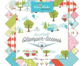 Fat Quarter Bundle Glamper-licious by Samantha Walker for Riley Blake Designs -  23 Fabrics