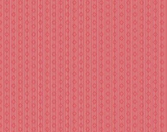 SALE!! 1/2 Yard Linen and Lawn by Sue Daley Designs for Penny Rose Fabrics- LW6345 Red Stripe