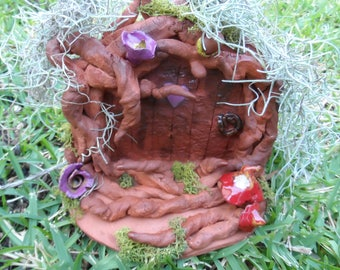 Secret Fairy Door Terracotta Pottery Fired Glazed Homemade with love Fairies Faery Garden