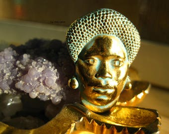 Mama Africa Brooch/African Woman Brooch/Restored Vintage Pendant/African Woman Jewelry/Afrocentric Jewelry