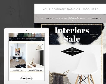 Boho Interiors E Mail Newsletter Template PSD