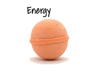 Energy Bath Bomb | Energy Goat Milk Bath Bomb | Orange Ginger Bath Bomb | Ginger Orange Bath Bomb