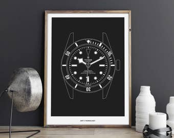 Tudor Black Bay Print
