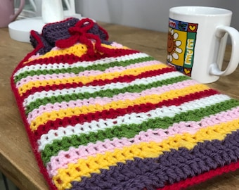 2L Hot Water Bottle and Crochet cover.