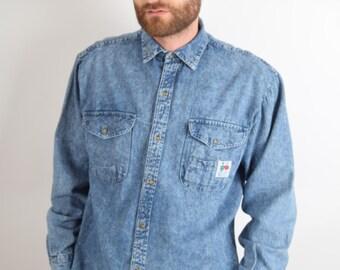 Vintage Denim Shirt Size M 90'S (1946)