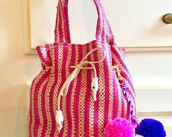 Raffia handbag, straw bag, gift, small bag, wristlet, beach bag, straw bag, Tote, beach bag, purse, hobo bag, girls bag, rattan bag, boho