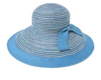 Big straw brim flanging children outdoor sunshade cap folding beach in summer straw hat