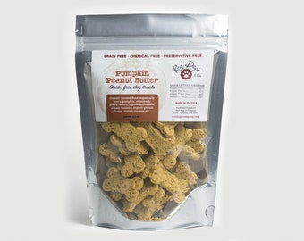 Pumpkin Peanut Butter Grain Free Dog Treats