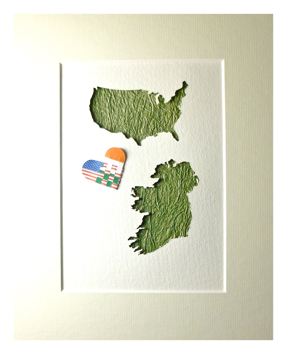 Miss You Art American Irish USA Ireland USA Map by mIrishDublin – Map Usa to Ireland