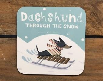 """Shop """"dachshund stocking"""" in Kitchen & Dining"""