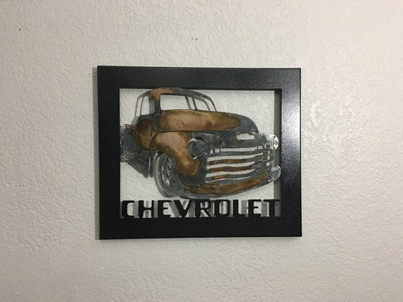 Metal Truck 51 Chevy Metal Wall Art Home Decor Old
