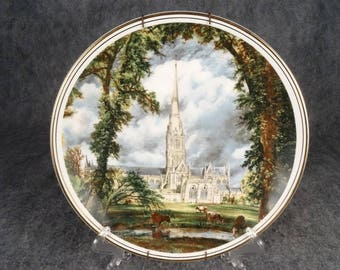 "10.75"" Collectors Plate Bone China ""Salisbury Cathedral"" By John Constable."