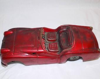 Bandai Triumph TR3 Tin Car Japan Parts Repair ***Vintage**