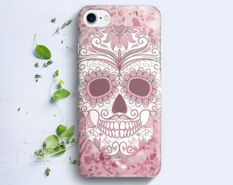 Mandala Skull on Marble Texture Case for iPhone 4/4s iPhone 5 iPhone 5c iPhone 5s iPhone 6 iPhone 6s Plus iPhone SE iphone 7