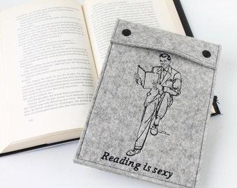 EBook cover from Fitz vintage, Kindle, eReader, eBook reader case for Kindle, custom made and embroidered book motif